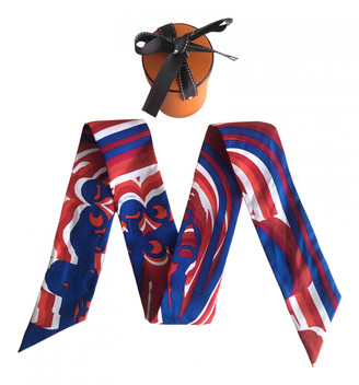 Hermes Twilly 86 Red Silk Scarves