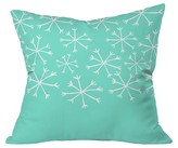 "DENY Designs Its snowing Throw Pillow Teal (20"" x 20"
