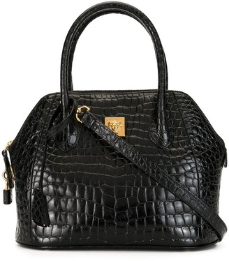 Versace Pre Owned Medusa crocodile-embossed tote