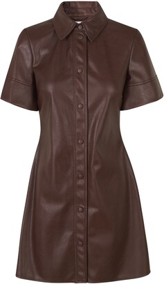Samsoe & Samsoe Short Sleeve Faux Leather Shirtdress