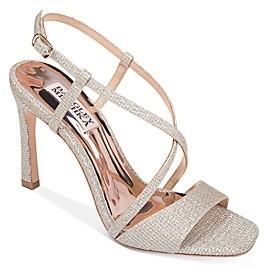 Badgley Mischka Women's Ebiza Metallic High-Heel Sandals