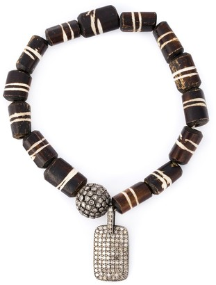 Loree Rodkin Bead Diamond Charm Bracelet