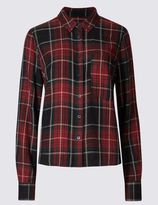 Marks and Spencer Boxy Checked Shirt