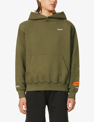 Heron Preston Logo-embroidered cotton-jersey hoody
