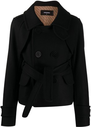 DSQUARED2 Double-Breasted Trench Jacket