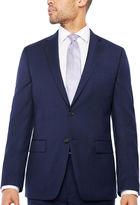 Claiborne Navy Texture Suit Jacket Classic