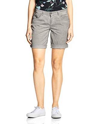 Street One Women's 372141 Crissi Bermuda Shorts, (Chilled Green Washed 11822)