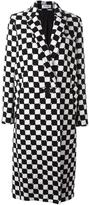 Courreges checked long coat