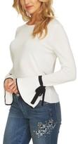 CeCe Women's Tie Cuff Sweater