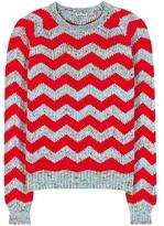 Miu Miu Knitted Virgin Wool, Alpaca And Silk Sweater