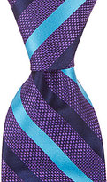 Daniel Cremieux Cross Stripe Traditional Silk Tie
