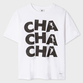 Paul Smith Women's White 'Cha Cha Cha' Print Cotton T-Shirt