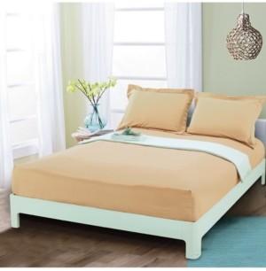 Elegant Comfort Silky Soft Single Fitted Sheet Full Gold Bedding