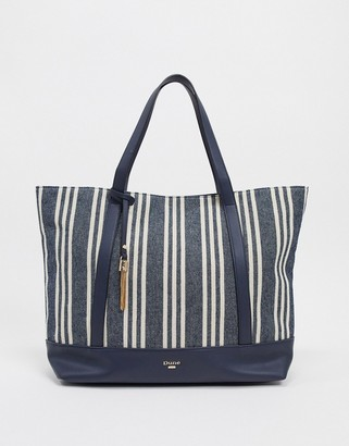 Dune danvas striped canvas tote bag