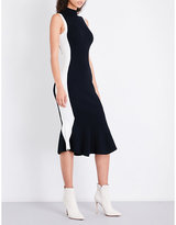 KENDALL + KYLIE KENDALL & KYLIE Contrast-panel fitted knitted dress