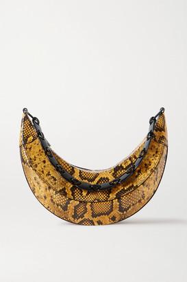 REJINA PYO Banana Snake-effect Glossed-leather Shoulder Bag - Snake print