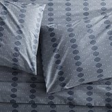 Crate & Barrel Bennett Blue Sheets and Pillow Cases