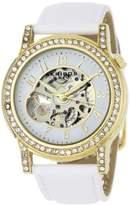Akribos XXIV Women's AKR475WT Bravura Collection Skeleton Automatic Watch