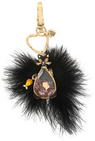 Betsey Johnson Holiday Giving Kitty Cat Keychain