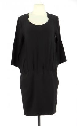 Comptoir des Cotonniers Black Silk Dress for Women