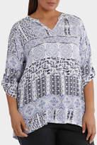 3/4 Slv Lisbon Print Shirt