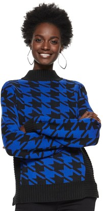 Nine West Women's Houndstooth Sweater