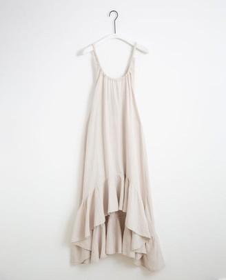 Beaumont Organic Belmira Organic Cotton Dress In Bone - Bone / Extra Small