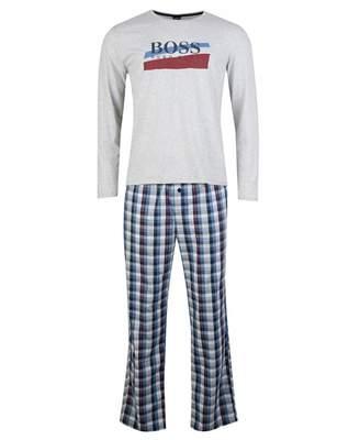 Boss Bodywear BOSS Bodywear Urban Long Sleeved Pyjama Set Colour: Navy Check, Size:
