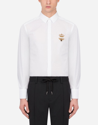 Dolce & Gabbana Cotton Gold-Fit Shirt With Patch