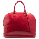 Louis Vuitton Red Patent leather Handbag Alma
