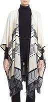 St. John Women's Fringed Stripe Wool Blend Wrap