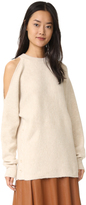 Tibi Boiled Cutout Shoulder Pullover