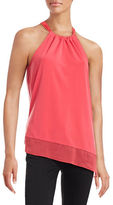 T Tahari Shirley Gathered Neck Halter Top