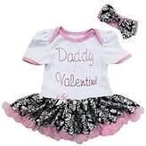 Ameda Baby Black Damask Daddy is my Valentine Bodysuit Tutu Dress Small