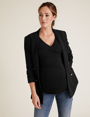 Marks and Spencer Maternity Cotton Fitted Nursing Top
