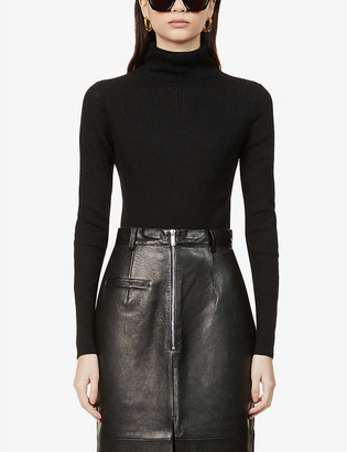 Reiss Sophie roll-neck wool-blend jumper