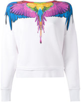 Marcelo Burlon County of Milan rainbow feather print sweatshirt - women - Cotton - XS