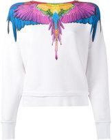 Marcelo Burlon County of Milan rainbow feather print sweatshirt