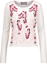 Giambattista Valli Embroidered Mohair-Blend Sweater