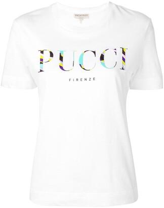 Emilio Pucci Burle Print Logo T-shirt