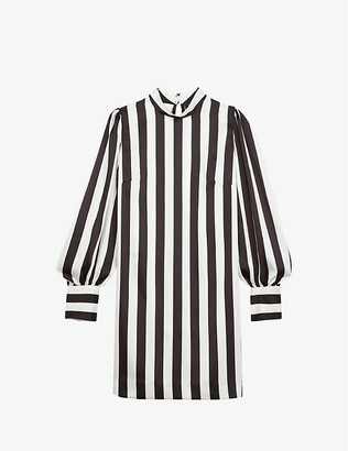 The Kooples Striped woven dress