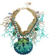 Betsey Johnson Glitter Reef Sea Shell Statement Necklace