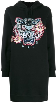 Kenzo tiger embroidered hoodie dress
