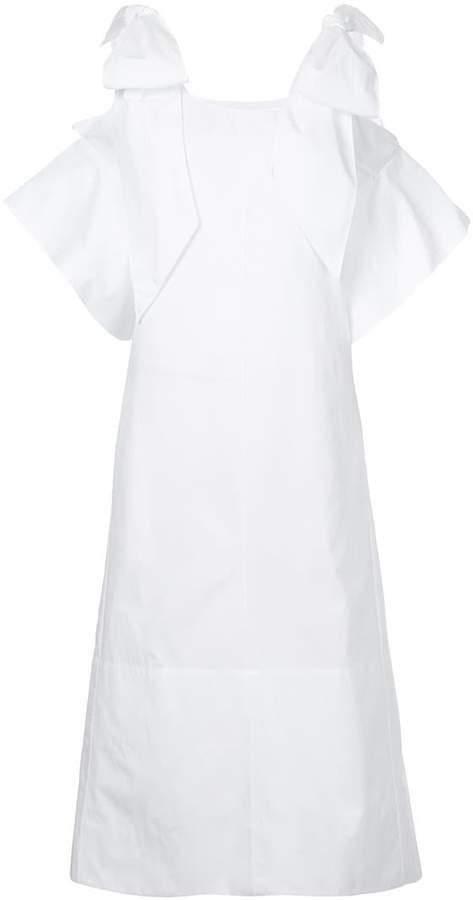 Chloé bow shoulder shift dress