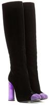 Tom Ford Embellished velvet knee-high boots