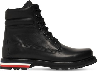 Moncler Vancouver Leather Ankle Boots