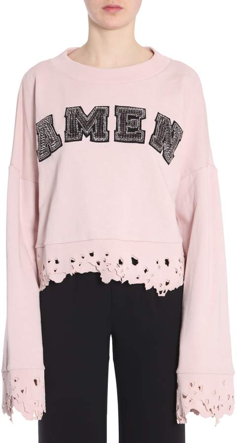 Amen Cropped Sweatshirt