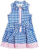 Milly Minis Sleeveless Check Shirt Dress, Size 8-14