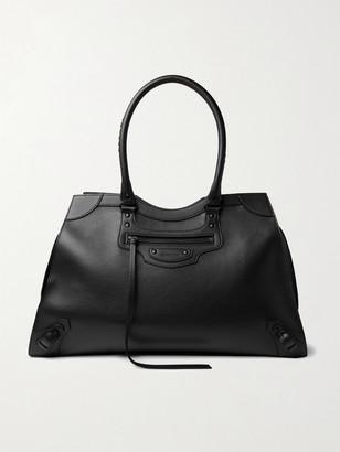 Balenciaga Classic City Tasselled Full-Grain Leather Duffle Bag - Men - Black