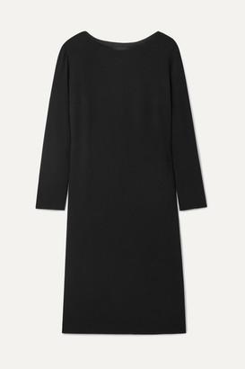 The Row Larina Crepe Dress - Black